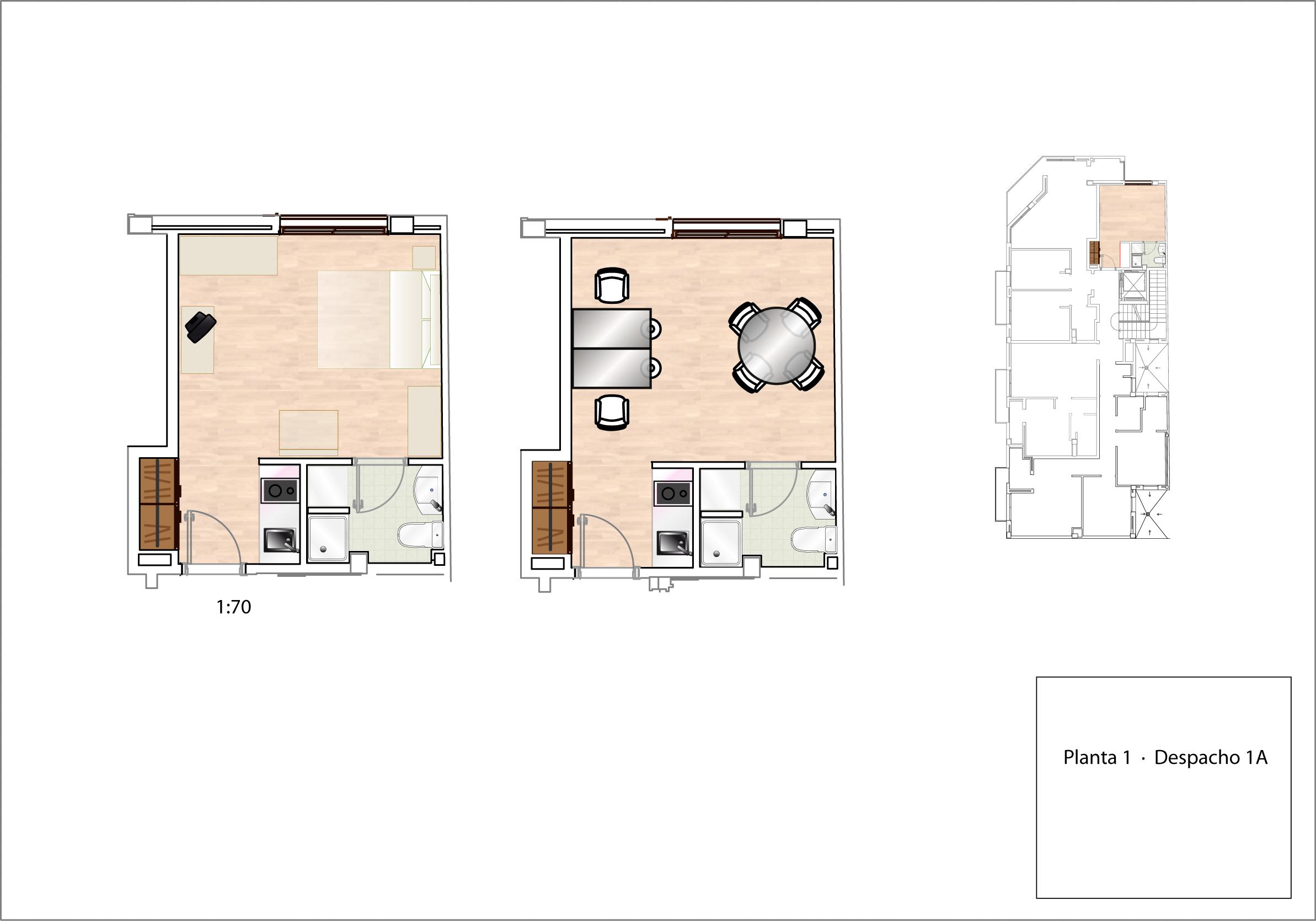 Plano Despacho/Estudio 1A - planta 1