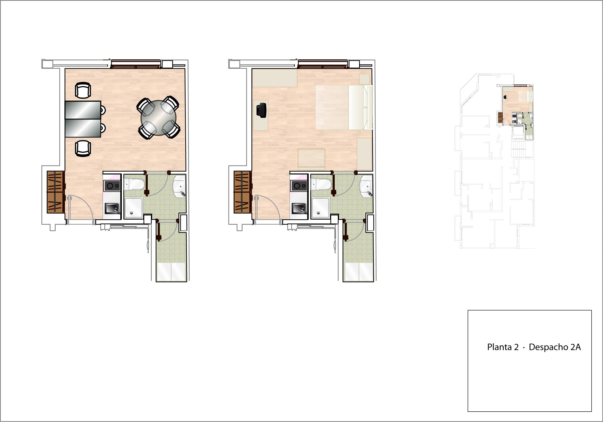 Plano Despacho/Estudio 2A - planta 2